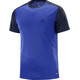 Salomon Stroll Shortsleeve Shirt Men blue/black